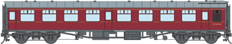 BR MR Maroon MK1 SK Coach (Unnumbered) DCC Fitted