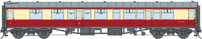 BR ER Crimson & Cream CK Coach No. E15140 (DCC Fitted)
