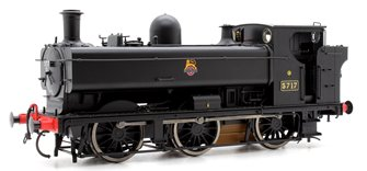 Class 57xx 0-6-0PT Pannier 5717 in BR Black with Early Emblem