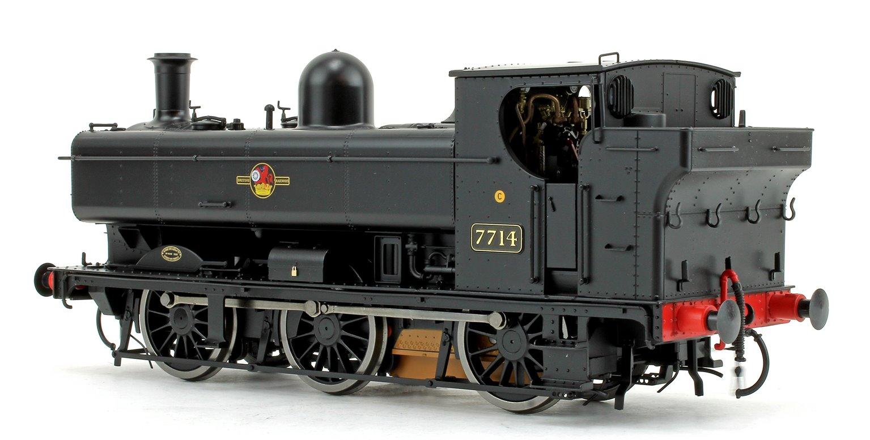 Class 57xx Pannier 7714 BR Black Late Crest DCC