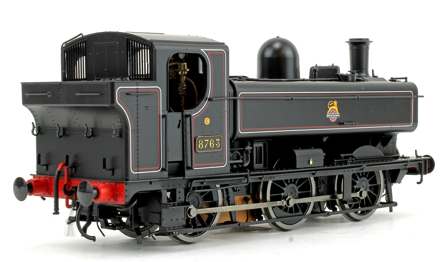 Class 57xx Pannier 8763 BR Lined Black Early Crest DCC Sound
