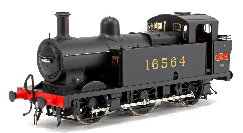 Class 3F Jinty LMS Black (Early Crest) 0-6-0 Tank Locomotive No.16564