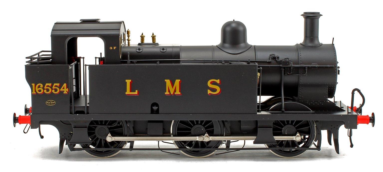 Class 3F Jinty LMS Black (Late Crest) 0-6-0 Tank Locomotive No.16554
