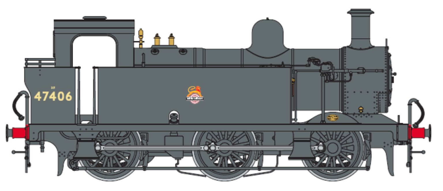 Class 3F Jinty BR Black 0-6-0 Tank Locomotive No.47406 DCC Fitted