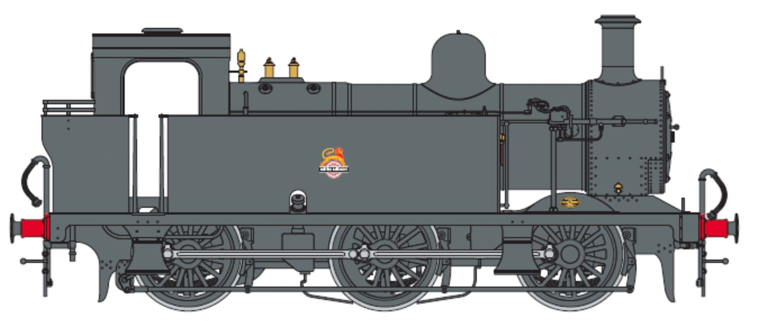 Class 3F Jinty BR Black 0-6-0 Tank Locomotive (Unnumbered) DCC Fitted