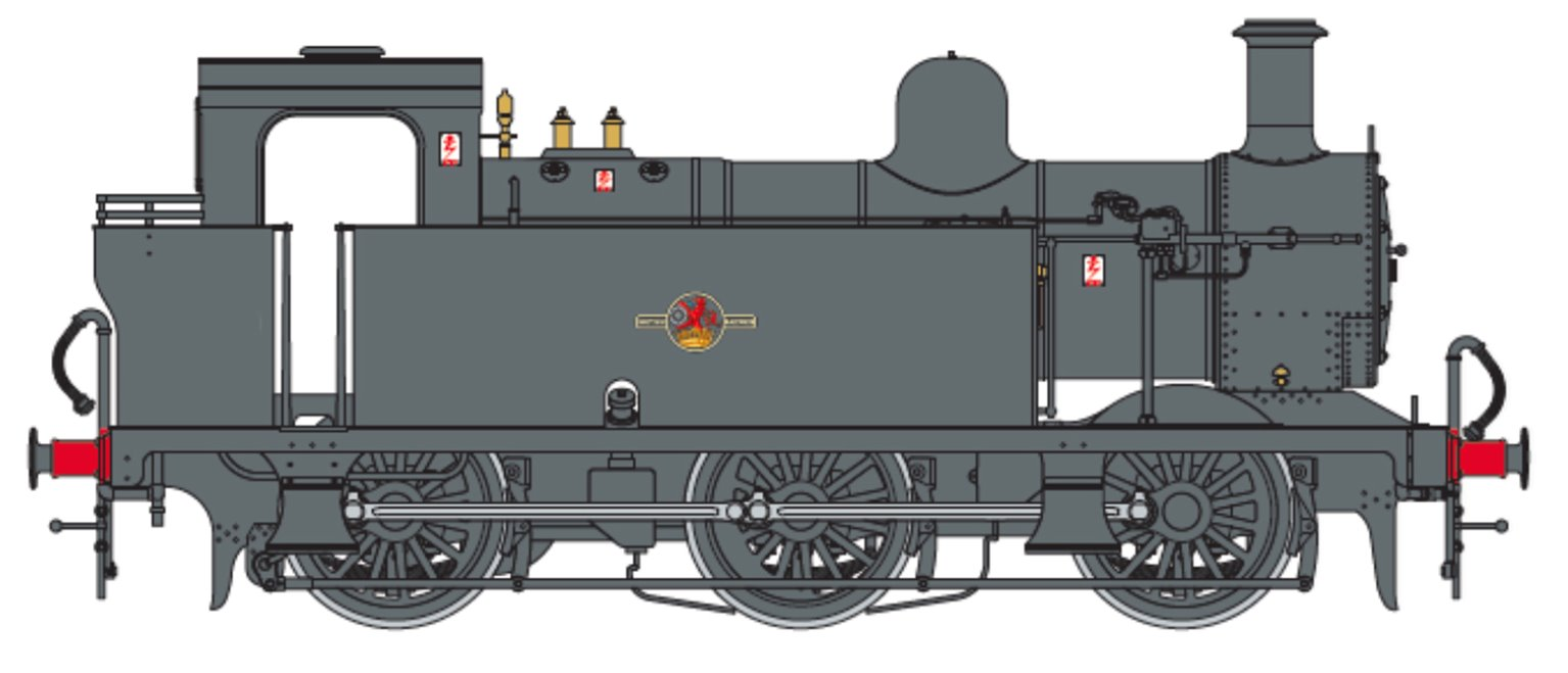 Class 3F Jinty BR Black (Late Crest) 0-6-0 Tank Locomotive (Unnumbered)