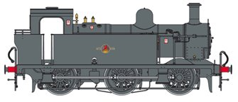 Class 3F Jinty BR Black (Late Crest) 0-6-0 Tank Locomotive (Unnumbered) DCC Fitted
