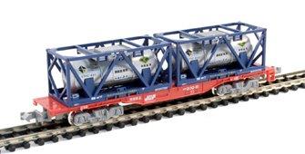 Koki 200 40' Flat Wagon & Containers