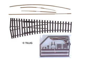 Tillig elite track : Right Sharp Point Kit HO 15°