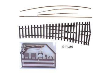Tillig elite track : Left Sharp Point Kit HO 15°