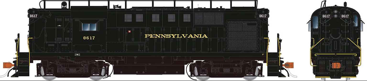 Alco RS-11 Locomotive: Pennsylvania RR with Trainphone antenna #8617