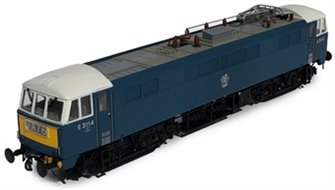 Class 86/0 'AL6' Bo-Bo Electric Locomotive BR Blue E3114 with small yellow warning panels and blue bufferbeams
