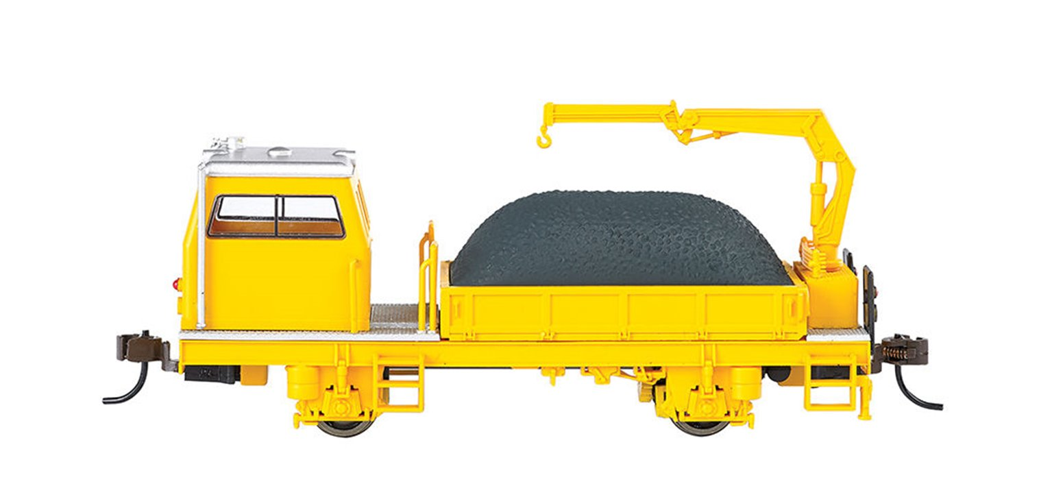 BALLAST VEHICLE WITH CRANE