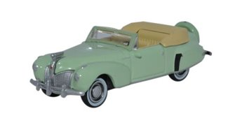 Oxford Diecast 87LC41005 1941 Lincoln Continental Paradise Green