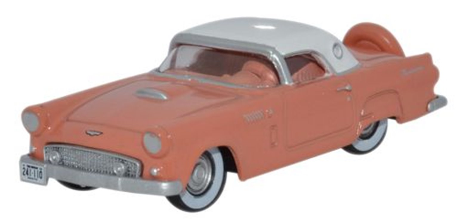 Ford Thunderbird 1956 Sunset Coral_Colonial White