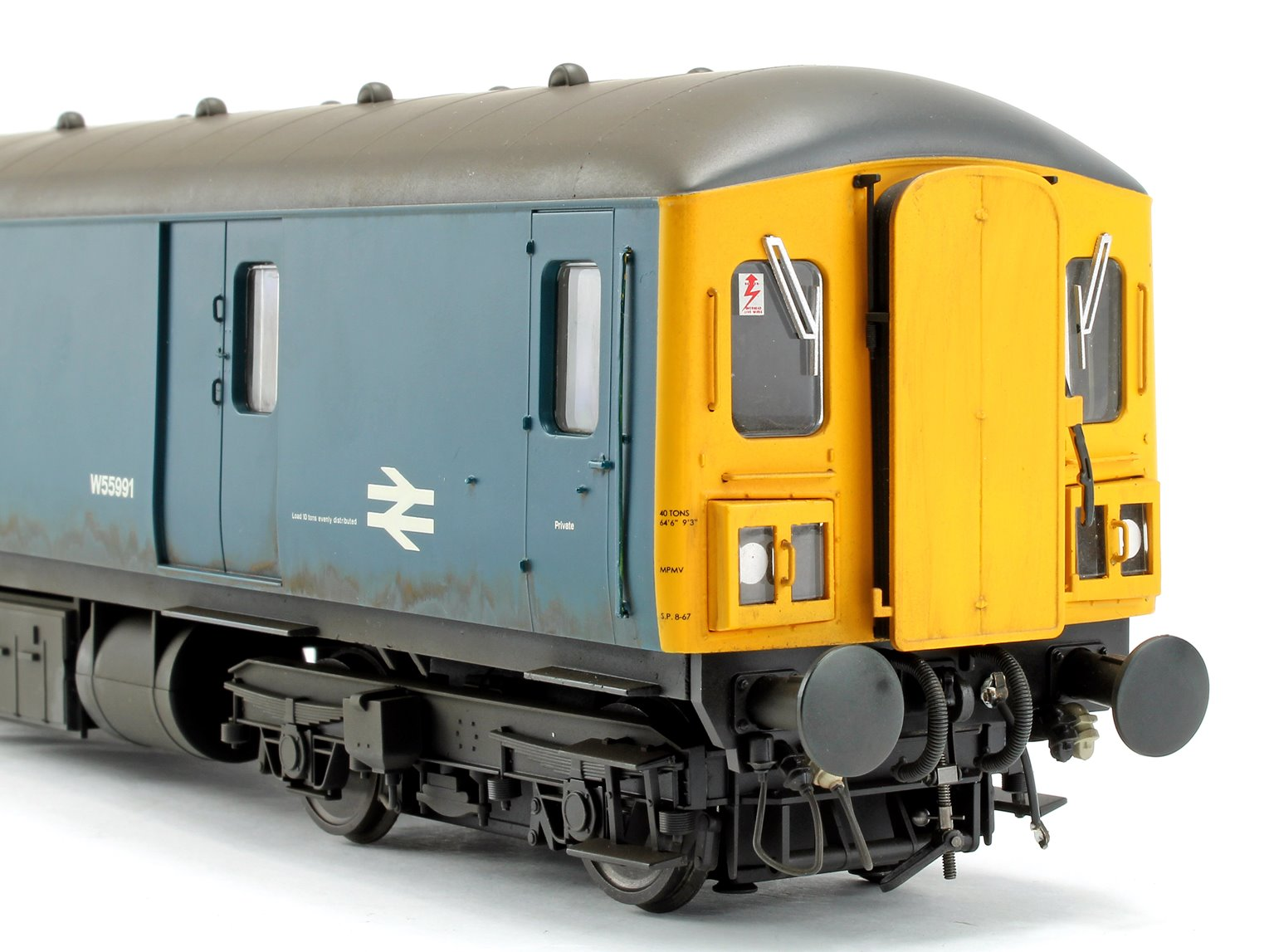 Class 128 DPU 'Parcels Service' BR Rail Blue with Yellow Ends (Weathered) Locomotive W55991