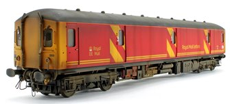 Custom Weathered Class 128 DPU Royal Mail Letters in Royal Mail red Locomotive #55993