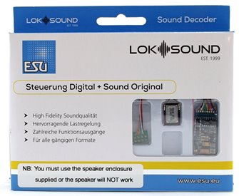 V5.0 Steam GWR Group 1 Digital Sound Decoder with Speaker - 8 pin