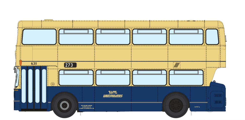 1/76 West Midlands Fleetline #6311 - WMPTE Blue/Cream - 273 DUDLEY - RUSSELLS HALL