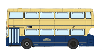 1/76 West Midlands Fleetline #6311 - WMPTE Blue/Cream - 273 DUDLEY - RUSSELLS HALL