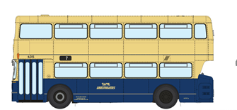 1/76 West Midlands Fleetline #6315 - WMPTE Blue/Cream - 7 PERRY COMMON COURT LANE VIA WITTON