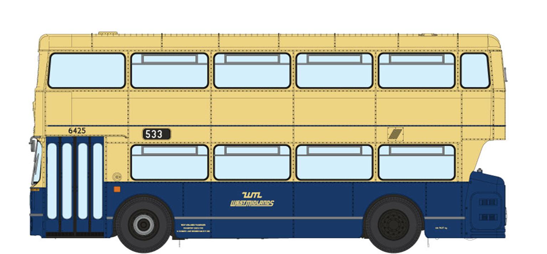 1/76 West Midlands Fleetline #6425 - WMPTE Blue/Cream - 533 WOLVERHAMPTON VIA BUSHBURY