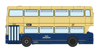 1/76 West Midlands Fleetline #6425 - WMPTE Blue/Cream - 533 WOLVERHAMPTON VIA BUSHBURY