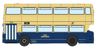 1/76 West Midlands Fleetline #6373 - WMPTE Blue/Cream - 130 STOURBRIDGE VIA HALESOWEN