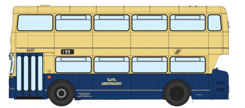 1/76 West Midlands Fleetline #6507 - WMPTE Blue/Cream - 199 SOLIHULL STATION VIA EXHIBITION CENTRE