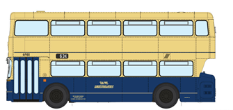 1/76 West Midlands Fleetline #6981 - WMPTE Blue/Cream - 63E SELLY OAK VIA BRISTOL ROAD