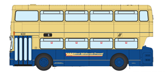 1/76 West Midlands Fleetline #6321 - WMT Blue/Cream - 6 CITY CENTRE VIA STRATFORD ROAD