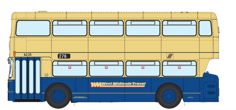 1/76 West Midlands Fleetline #6325 - WMT Blue/Cream - 276 DUDLEY VIA DARBY END
