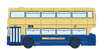 1/76 West Midlands Fleetline #6921 - WMT Blue/Cream - 74 DUDLEY VIA WEST BROMWICH