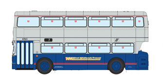 1/76 West Midlands Fleetline #6965 - WMT Blue/Grey - 7 CITY CENTRE VIA WITTON