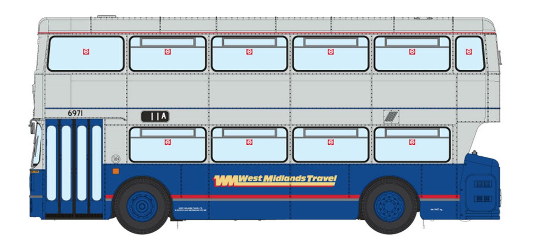 1/76 West Midlands Fleetline #6971 - WMT Blue/Grey - 11A OUTER CIRCLE