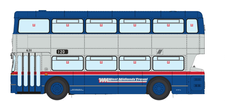 1/76 West Midlands Fleetline #6909 - WMT Blue/Silver - 120 DUDLEY VIA OLDBURY