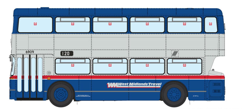 1/76 West Midlands Fleetline #6940 - WMT Blue/Silver - 449 BRANDHALL VIA SPON CROFT