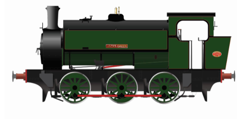 "16"" Hunslet ""Jacks Green"" Nassington Lined Green"