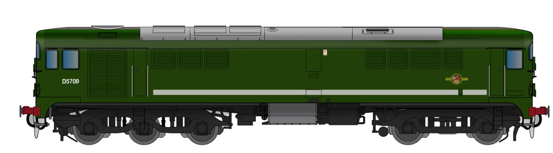 Class 28 D5709 Plain BR Green