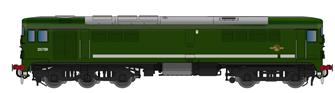 Class 28 D5709 Plain BR Green - DCC SOUND