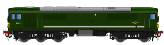 Class 28 D5711 BR Green With Small Yellow Panel (Small Radius Corners) - DCC SOUND