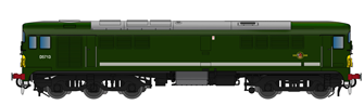 Class 28 D5713 BR Green With Small Yellow Panel (Large Radius Corners)