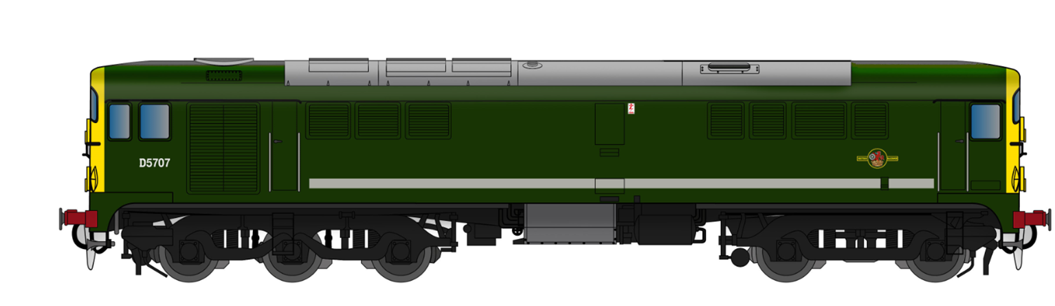 Class 28 D5707 BR Green With Full Yellow Ends - DCC SOUND