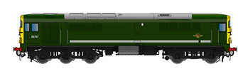 Class 28 D5707 BR Green With Full Yellow Ends