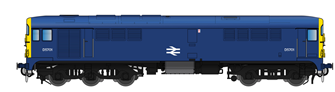 Class 28 D5701 BR Blue With Full Yellow Ends
