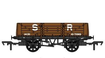 SECR 1347 5 Plank Open Wagon - SR Brown (pre-1936) #14131