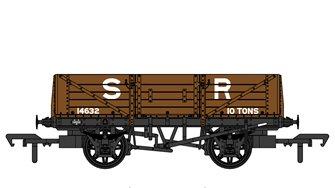 SECR 1347 5 Plank Open Wagon - SR Brown (pre-1936) #14632