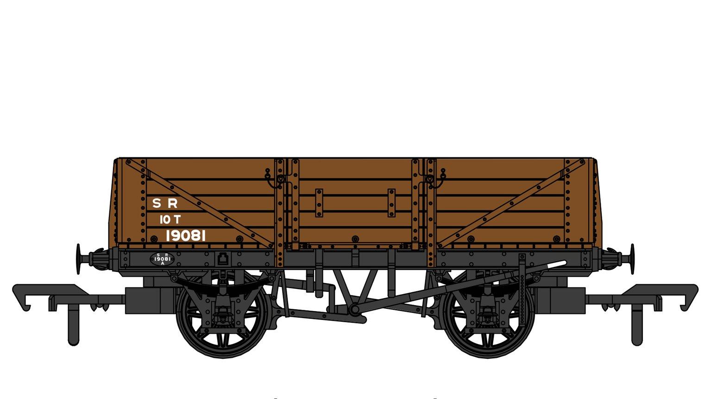 SECR 1347 5 Plank Open Wagon - SR Brown (post-1936) #19081