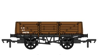 SECR 1349 5 Plank Open Wagon - SR Brown (post-1936) #14678