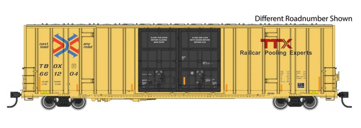 60' High Cube Plate F Boxcar TTX 661229